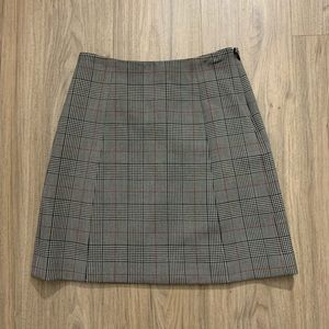 Babaton Modern Check Mini Skirt